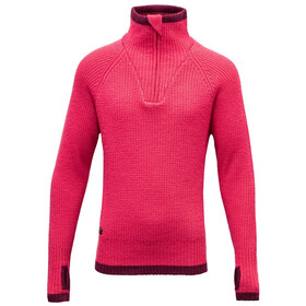 Devold Varde Zip Neck Sweater Ungdom watermelon